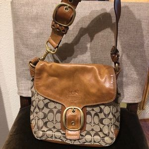 Coach Genuine Leather Over-the-Shoulder Bag